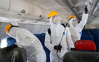 К старту сезона отпусков аэропорт Домодедово дополнил технологии дезинфекции для обеспечения санитарной безопасности полетов